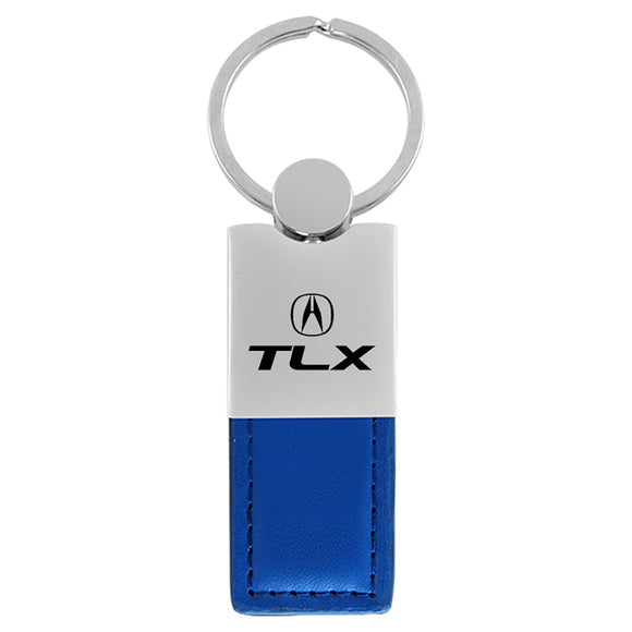 Acura TLX Keychain & Keyring - Duo Premium Blue Leather