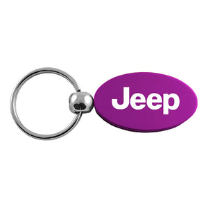 Jeep Keychain & Keyring - Purple Oval