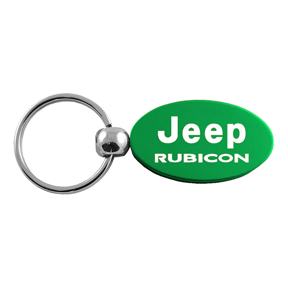 Jeep Rubicon Keychain & Keyring - Green Oval