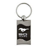 Ford Mustang 50 Years Keychain & Keyring - Black Wave