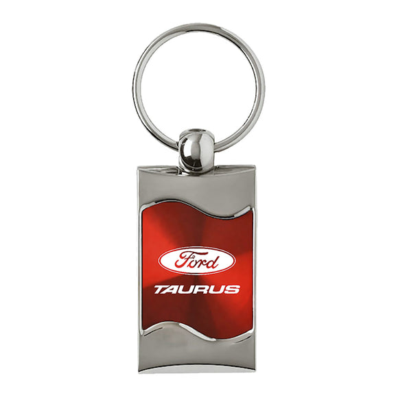 Ford Taurus Keychain & Keyring - Red Wave