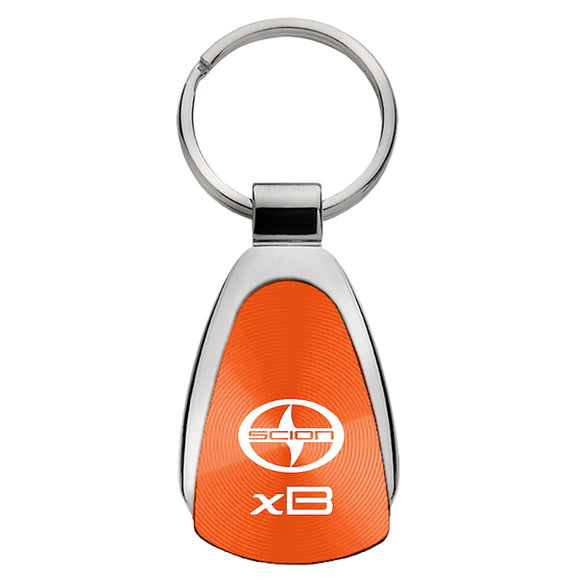 Scion xB Keychain & Keyring - Orange Teardrop