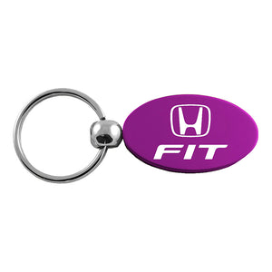 Honda Fit Keychain & Keyring - Purple Oval