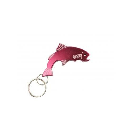 Trout Keychain & Keyring - Bottle Opener - Red