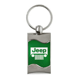 Jeep Grill Keychain & Keyring - Green Wave