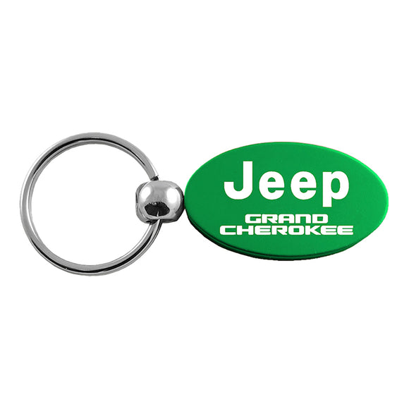 Jeep Grand Cherokee Keychain & Keyring - Green Oval