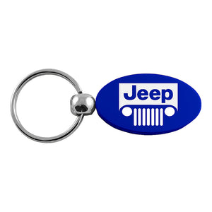Jeep Grill Keychain & Keyring - Blue Oval