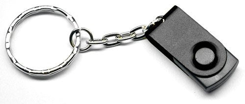 USB Flash Drive Keychain & Keying - 1GB (Black)