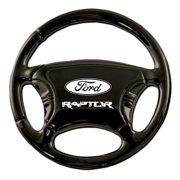 Ford Raptor Keychain & Keyring - Black Steering Wheel