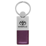 Toyota Yaris Keychain & Keyring - Duo Premium Purple Leather