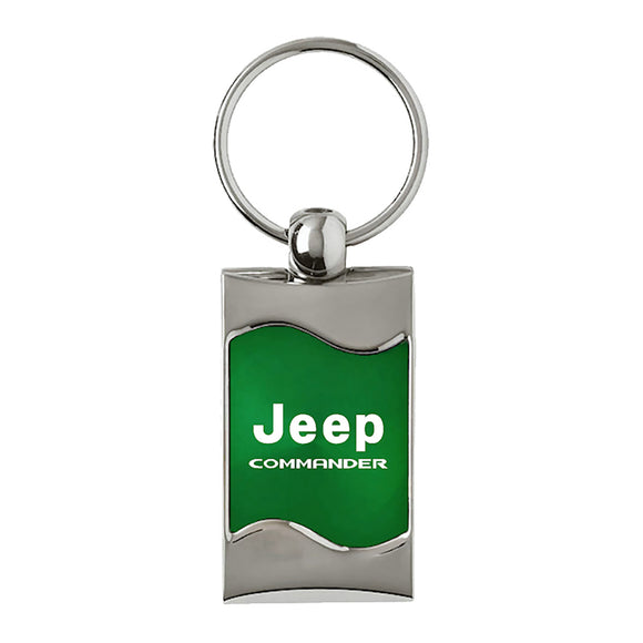 Jeep Commander Keychain & Keyring - Green Wave