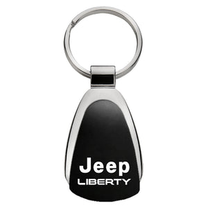 Jeep Liberty Keychain & Keyring - Black Teardrop