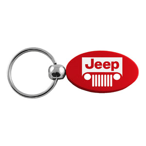 Jeep Grill Keychain & Keyring - Red Oval