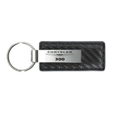Chrysler 300 Keychain & Keyring - Gun Metal Carbon Fiber Texture Leather