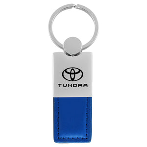 Toyota Tundra Keychain & Keyring - Duo Premium Blue Leather