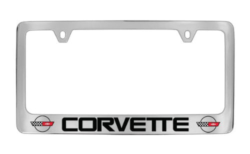 Chevrolet Corvette C4 Chrome Plated Metal License Plate Frame Holder