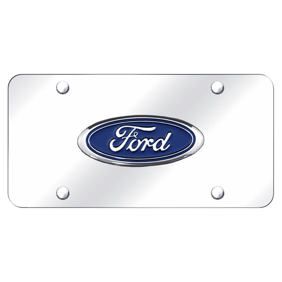 Ford Logo Chrome on Chrome Plate