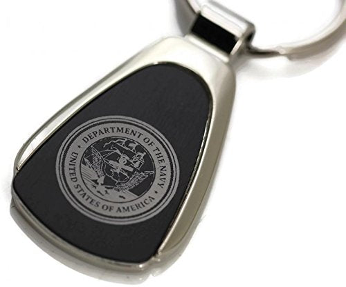 USA Navy Keychain & Keyring - Black Teardrop