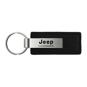 Jeep Commander Keychain & Keyring - Premium Leather