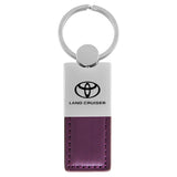 Toyota Land Cruiser Keychain & Keyring - Duo Premium Purple Leather