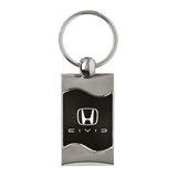 Honda Civic Reversed C Keychain & Keyring - Black Wave