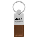 Jeep Grand Cherokee Keychain & Keyring - Duo Premium Brown Leather