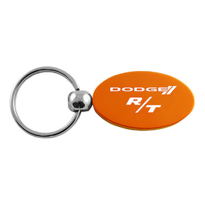 Dodge R/T Keychain & Keyring - Orange Oval