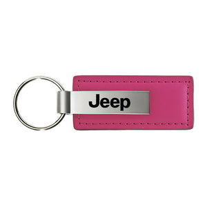 Jeep Keychain & Keyring - Pink Premium Leather
