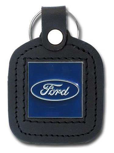 Ford Keychain & Keyring - Square Leather