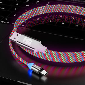KEYSION Magnetic Cable Flowing Light  | Micro USB | iPhone | Type C - Phenomenal Ware