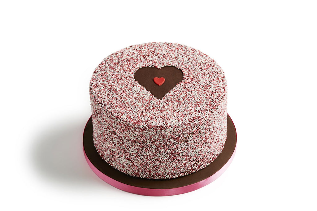 Valentine's Chocolate Love Heart Cake