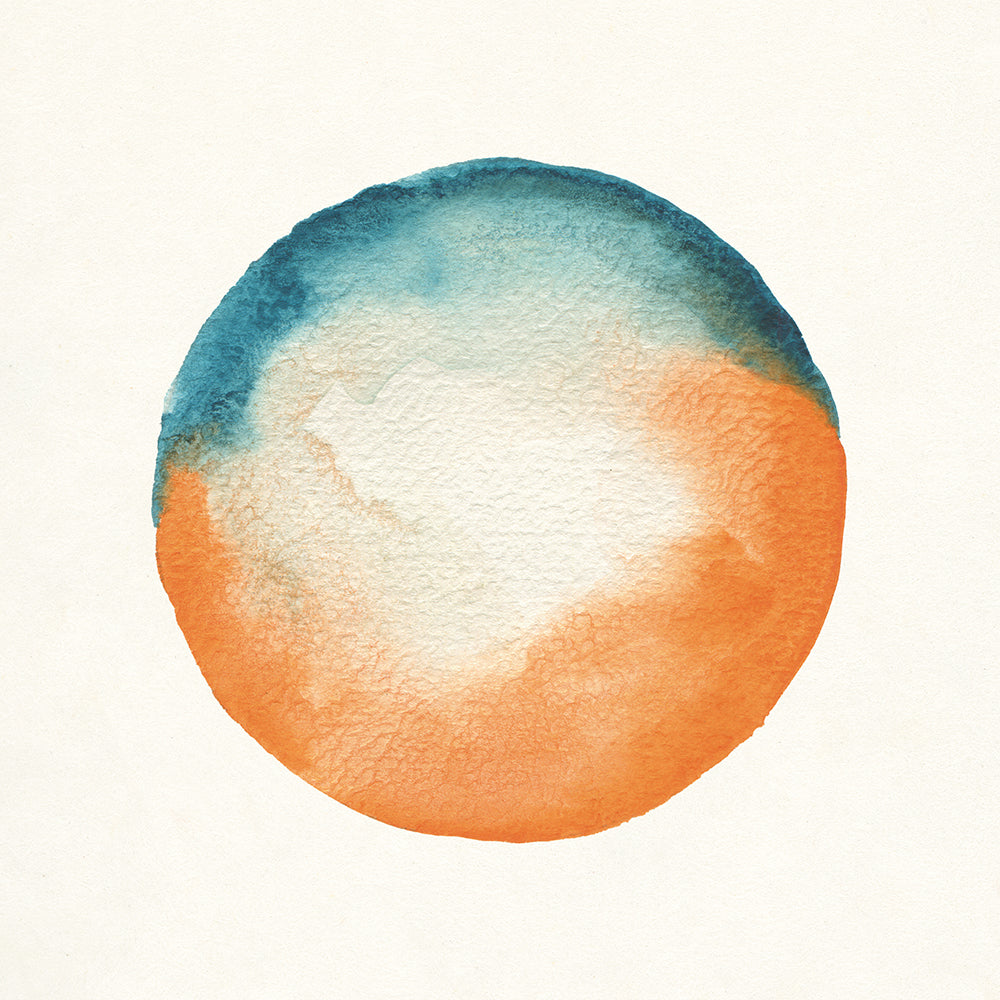 Blue and orange circle