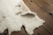 Nature's Fleece cream wool rug