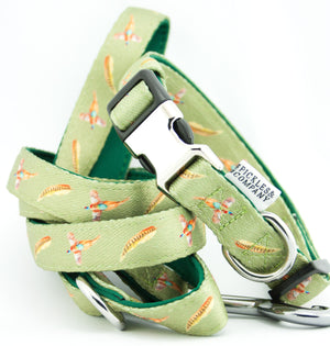 'FLYING PHEASANT' Printed Webbing and soft Neoprene Dog Lead