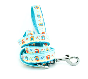 dog lead neoprene webbing blue beach huts