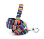 dog lead neoprene webbing multi colour