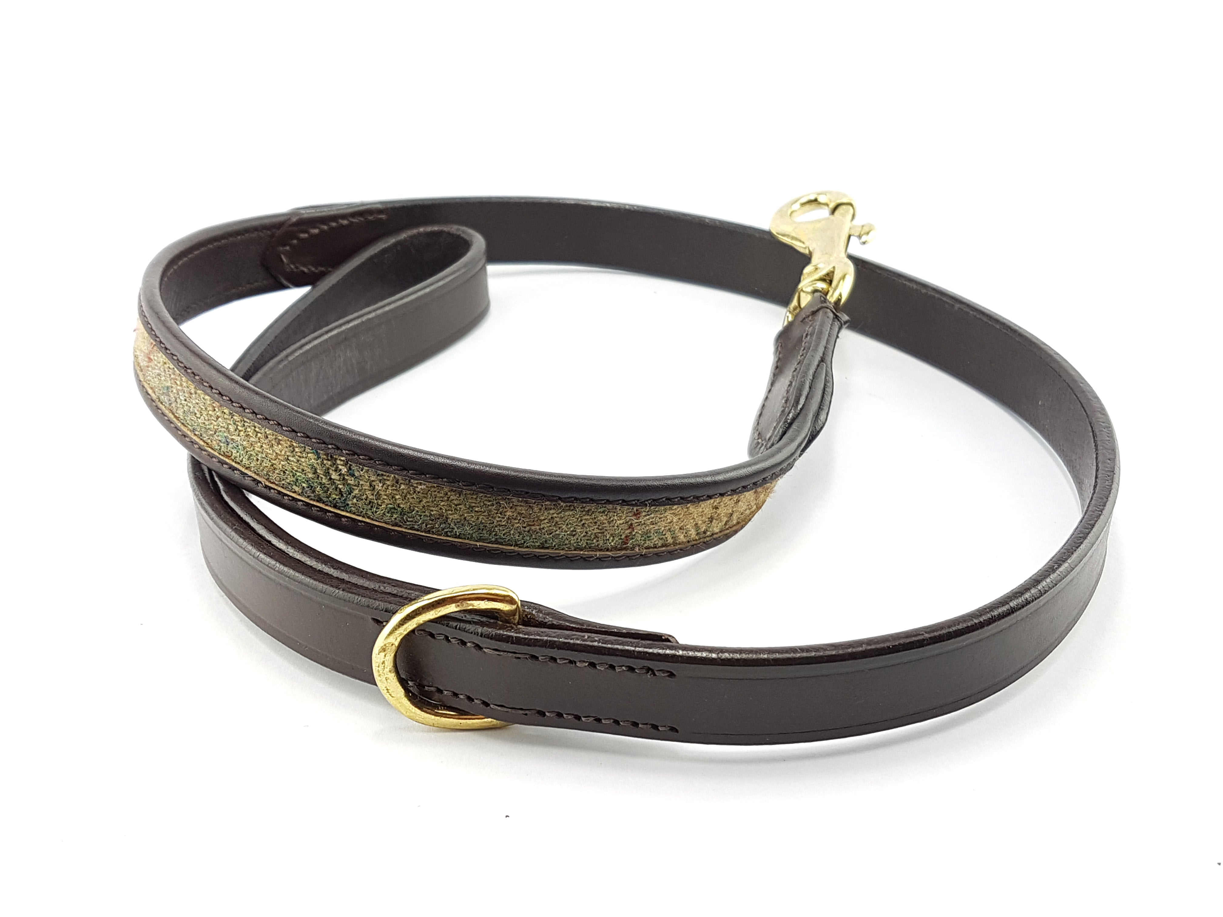 'The Balmoral' Tweed & Leather Dog Lead