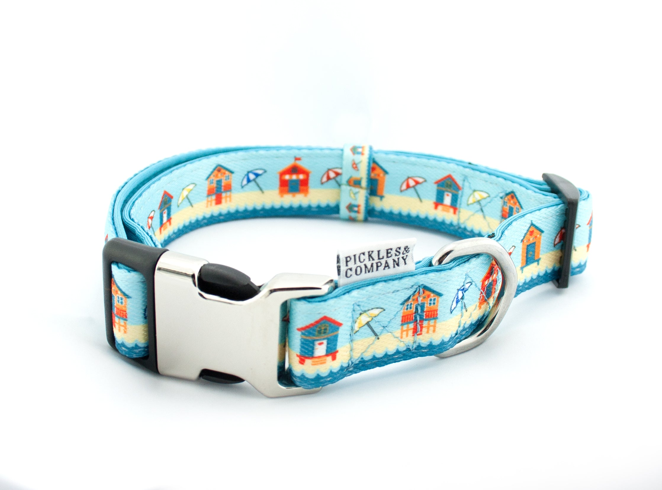 dog collar neoprene webbing blue