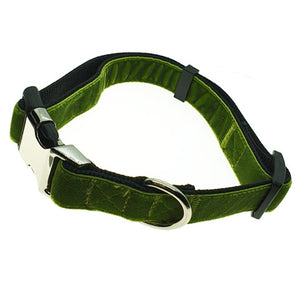 VELVET ADJUSTABLE DOG COLLAR
