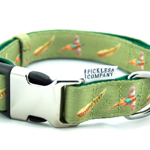 dog collar pheasant green