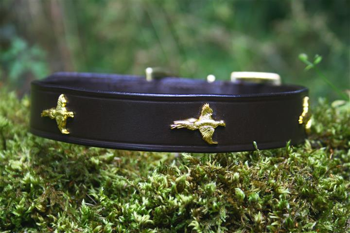 Pheasant Leather Dog Collar