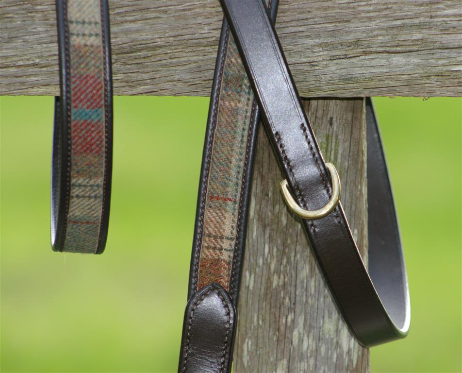 Balmoral Tweed & Leather Dog Lead