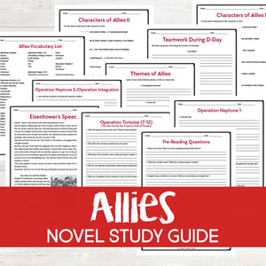 Allies by Alan Gratz Book Study  <h5><b>Grades:</b> 6-8 </h5>