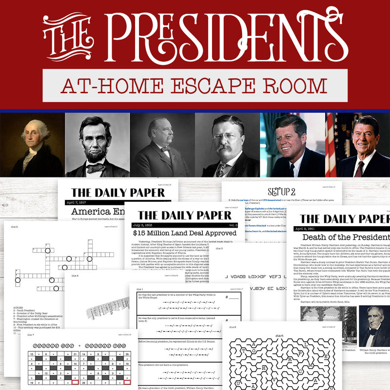 The US Presidents At-Home Escape Room
