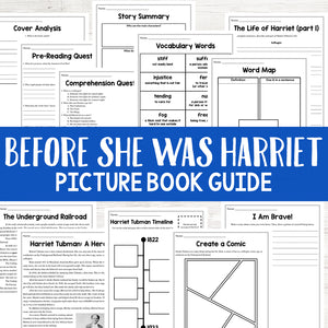 Before She Was Harriet Picture Book Study <h5><b>Grades:</b> 3-6</h5>