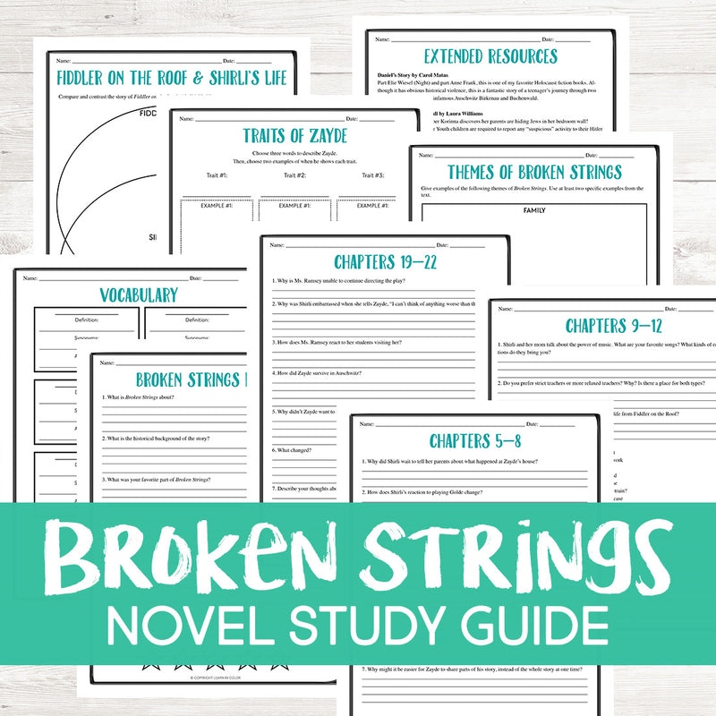 Broken Strings by Eric Walter Novel Study