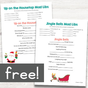 Christmas Song Mad Libs