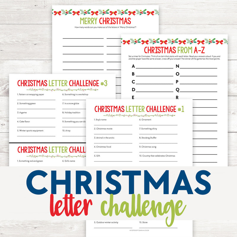 Christmas Letter Challenges