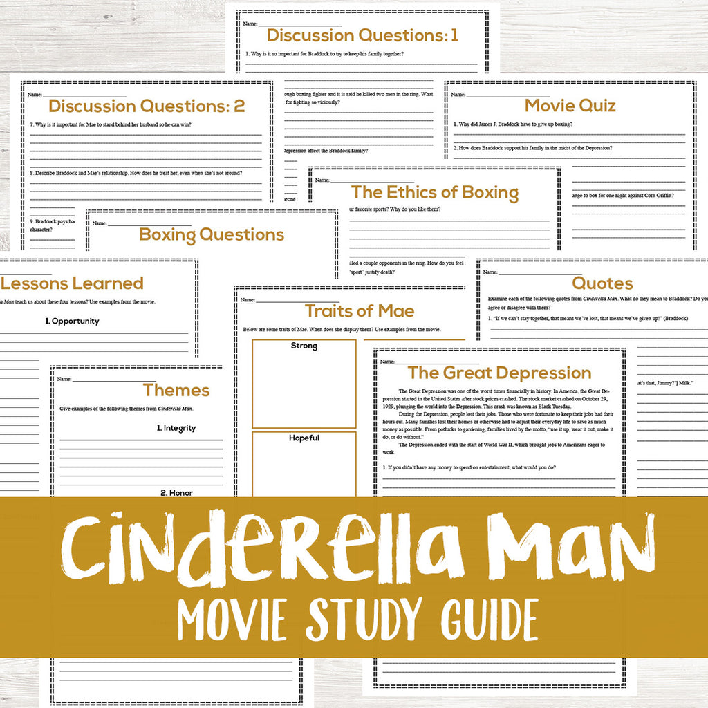 Cinderella Man Movie Study  <h5><b>Grades:</b> 7-10 </h5>