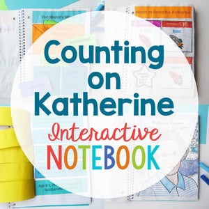 Counting on Katherine Interactive Notebook  <h5><b>Grades:</b> 1-3 </h5>